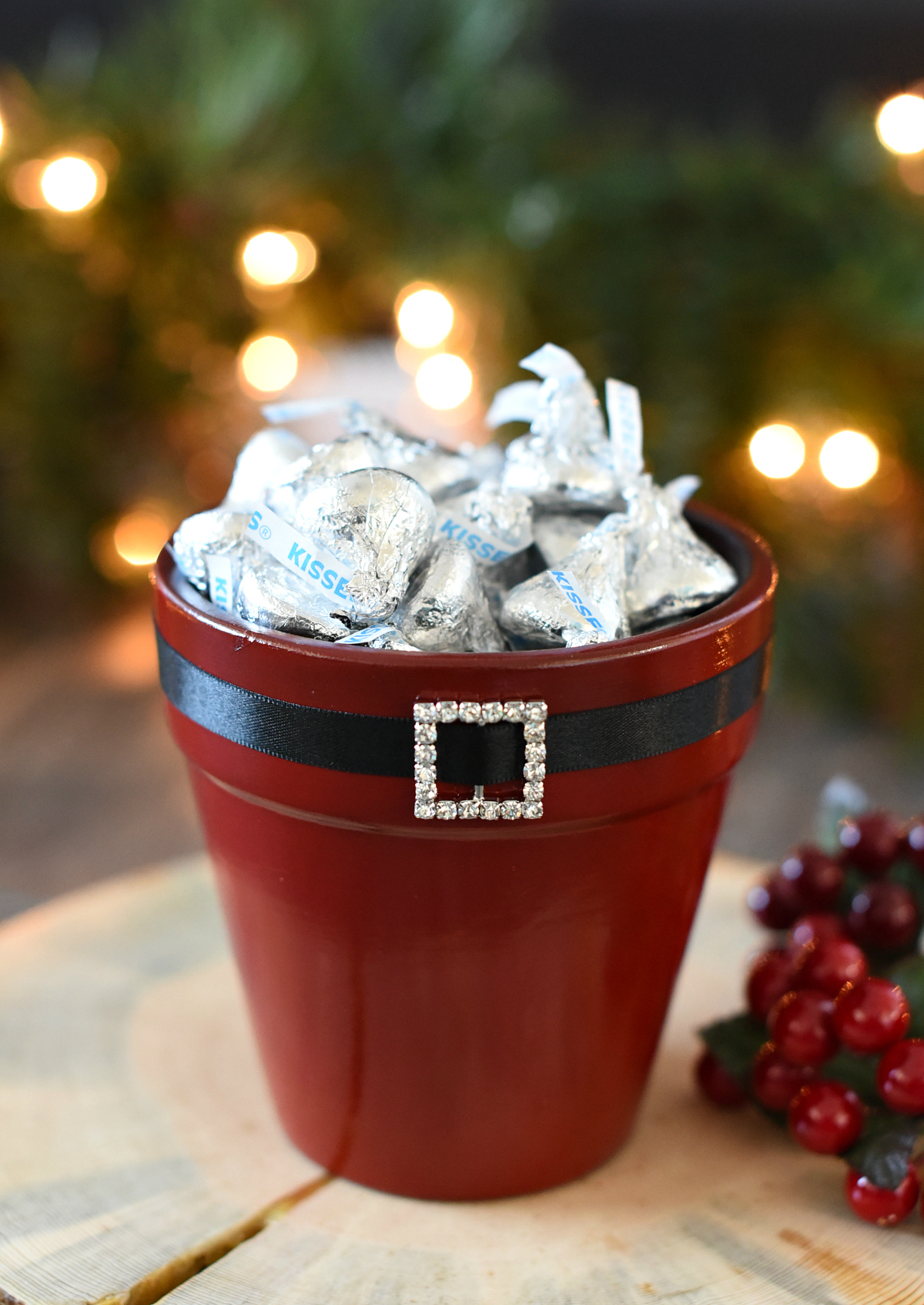 Santa Themed Candy Dish