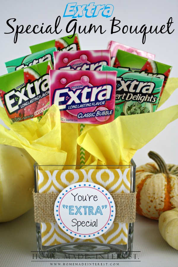 Gum Bouquet Thank You Gift Idea