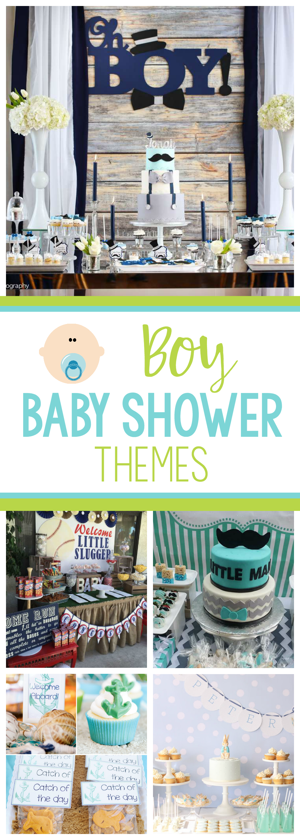 Baby Boy Baby Shower Themes and Ideas-These baby boy shower themes are fun to choose from and there are great baby shower ideas in each of them! #babyshower #babyshowerideas