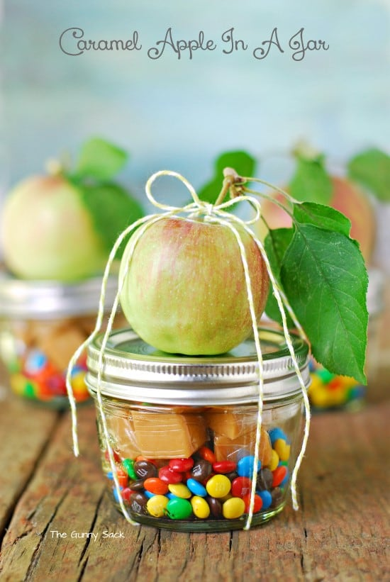 Carmel Apple in a Jar Gift