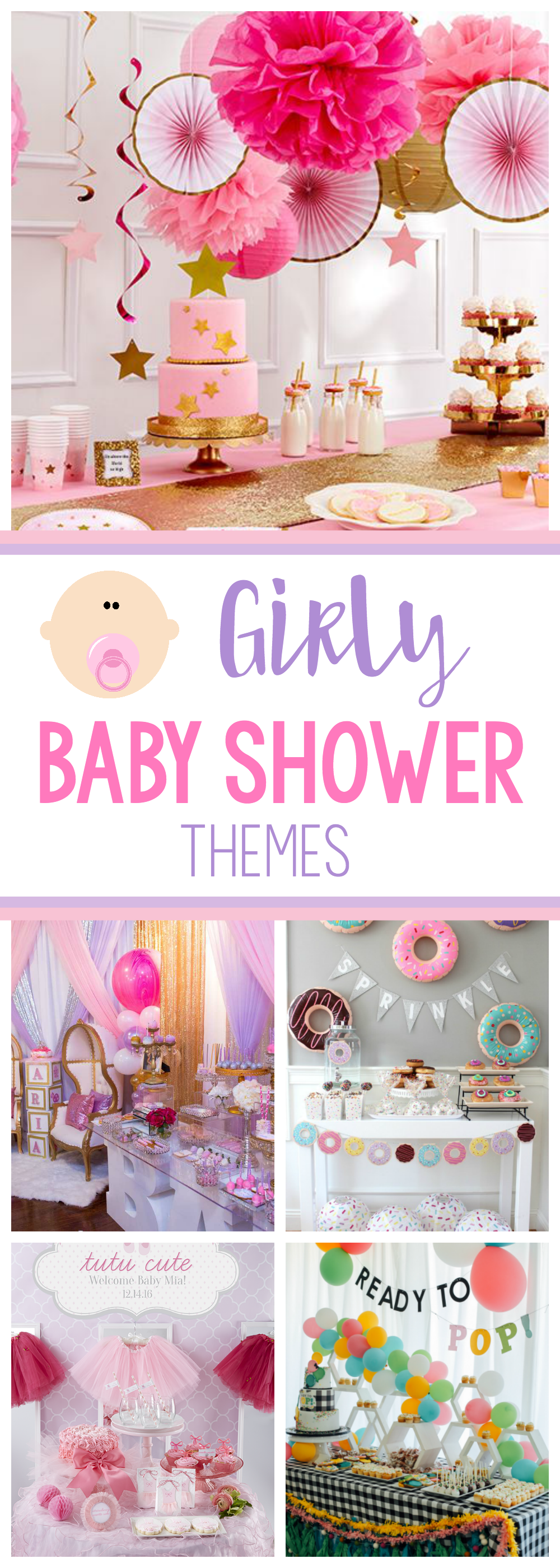 Cute Girl Baby Shower Themes and Ideas