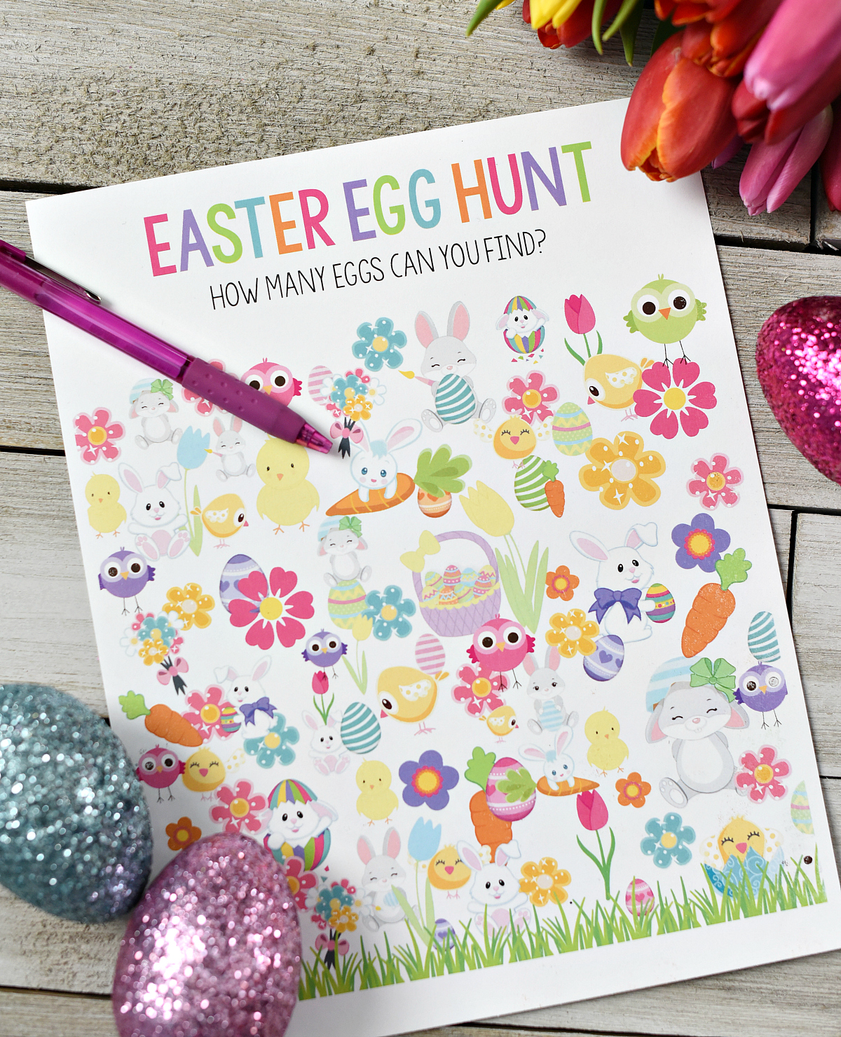 Printable Easter Egg Hunt Game for Preschoolers