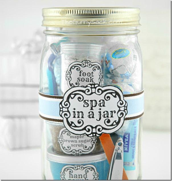 Spa in a Jar Gift Idea