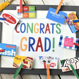 Cute Graduation Gifts-Congrats Grad Gift Card Frame