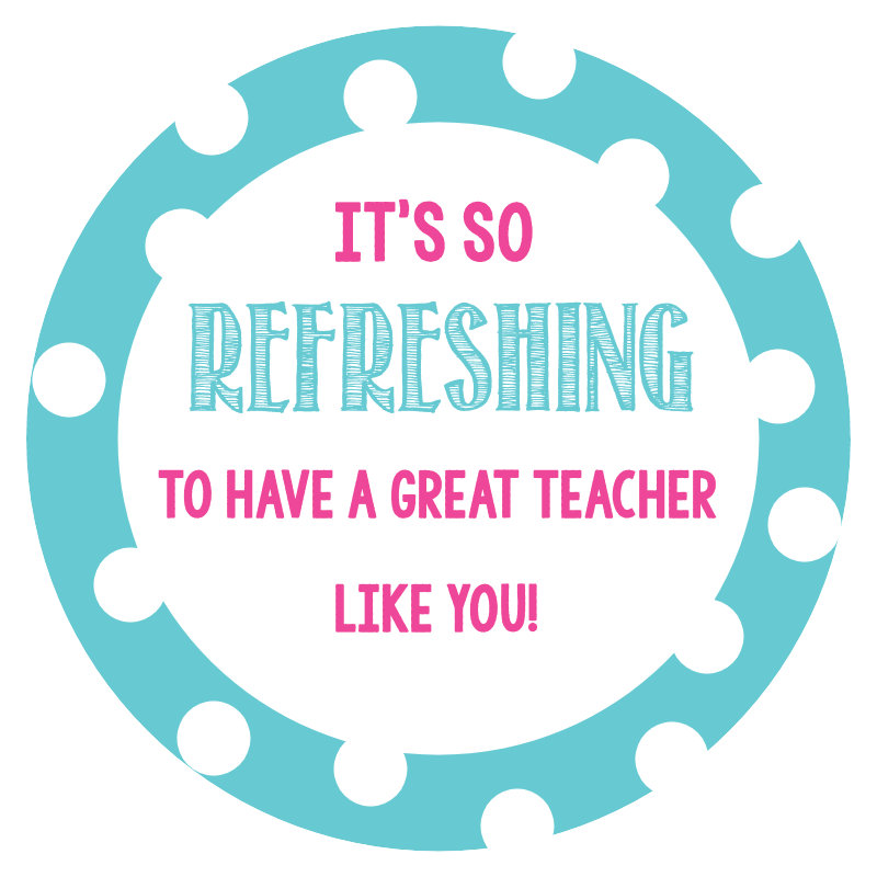 Gift Tags for Teachers
