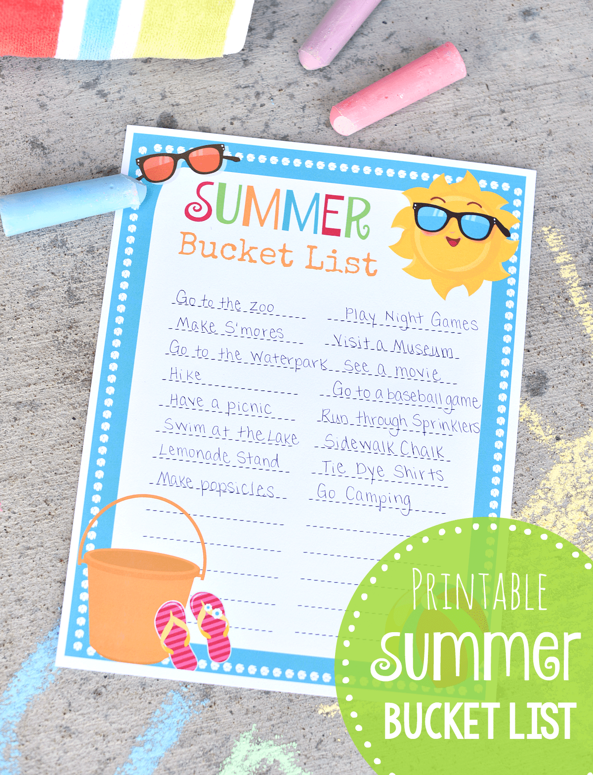 picture about Summer Bucket List Printable titled Summer months Bucket Listing Printable Toward Do Listing Entertaining-Squared
