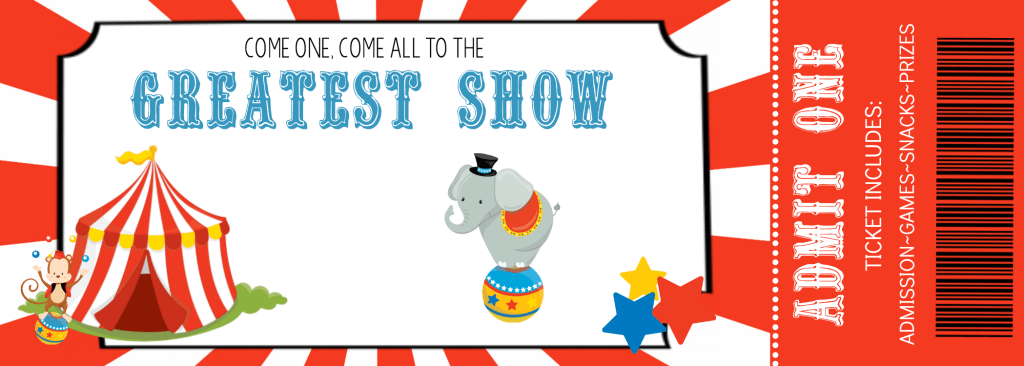 Free Printable Circus Party Invitation Template