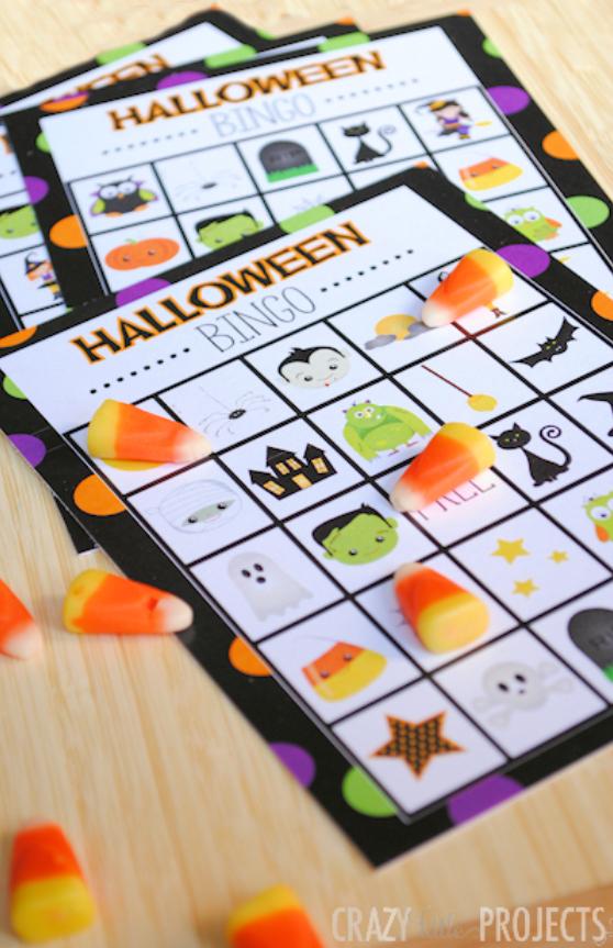 Halloween Bingo Cute Free Printable Game Fun Squared