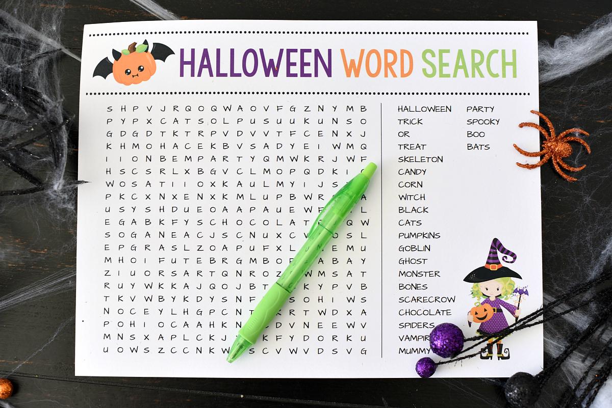 Cute Printable Halloween Games For Kids Fun Squared