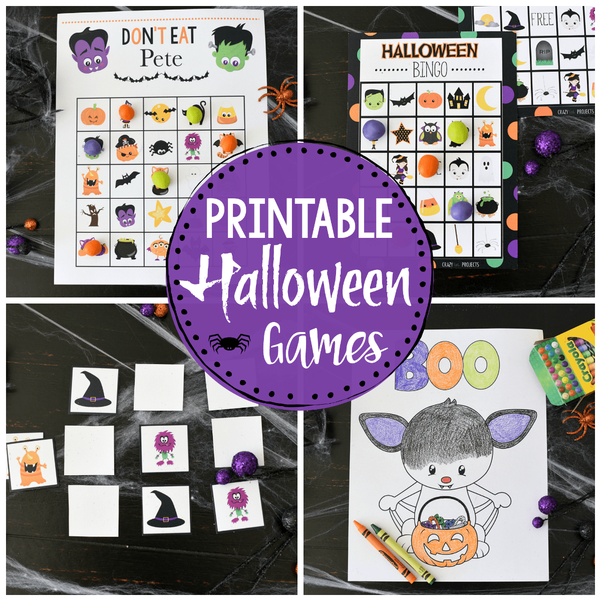 Cute Free Printable Halloween Games for Kids
