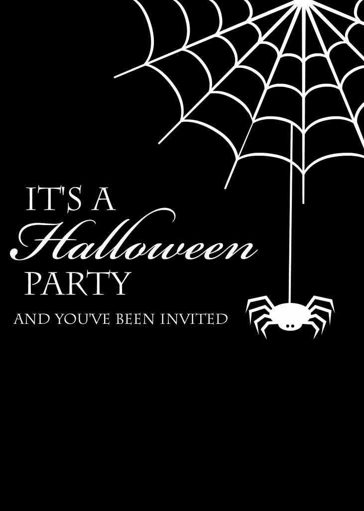 Halloween Spider Invitations