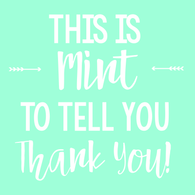 Mint Themed Thank You Gift Tag