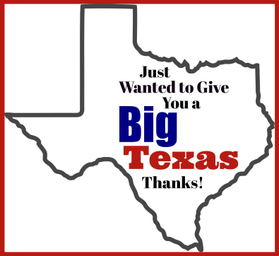 Big Texas Thank You Gift Tag