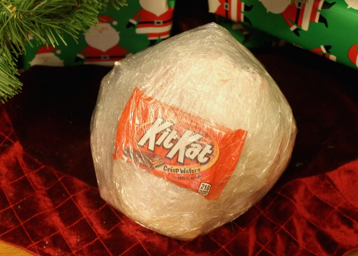 Saran Wrap Candy Ball Game