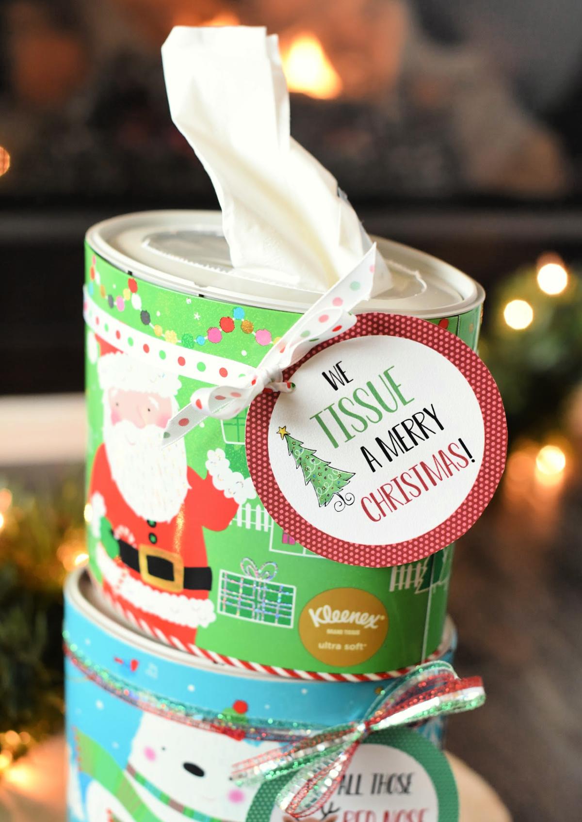 We Tissue a Merry Christmas Easy Neighbor Gift Idea