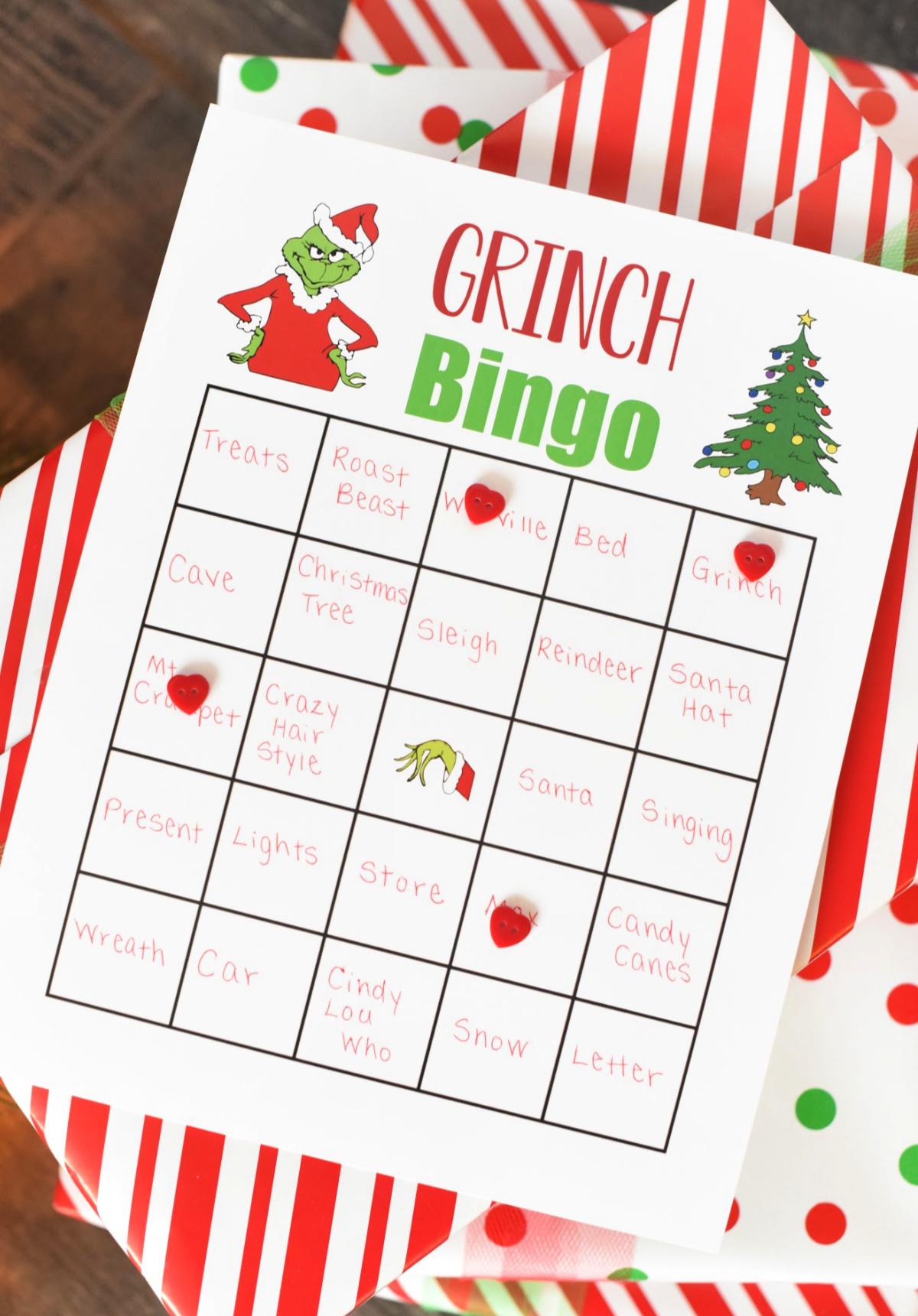 Fun Grinch Bingo