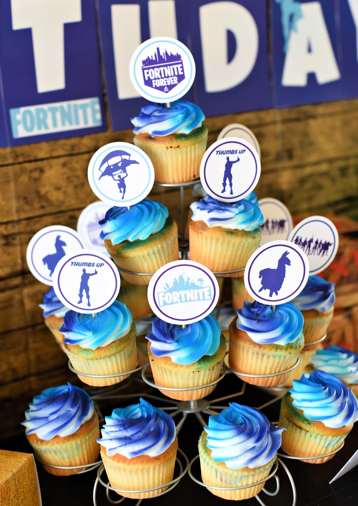 Fortnite Cupcake Toppers