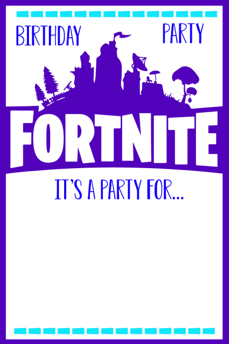 Fortnite Party Invitation