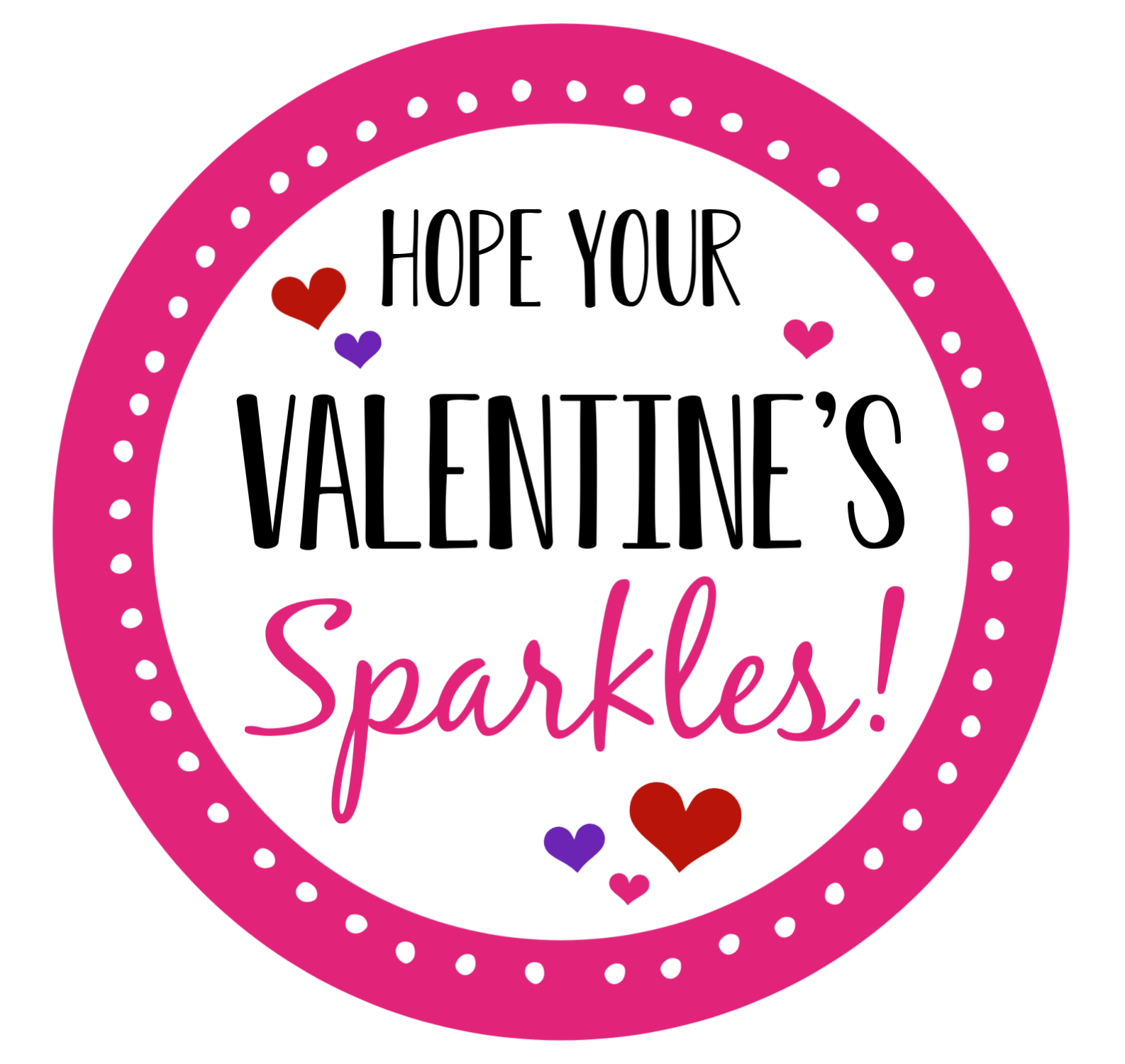 Galentine's Sparkle Gift Tag