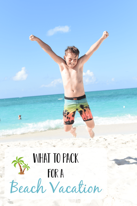 What to Pack for a Beach Vacation: Grab this printable Beach Vacation Packing List and get ready to head to paradise! #vacation #travel #beach #familyvacation