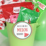 "Creative Teacher Gifts-This ""One in a Melon"" teacher gift is simple and fun and easy to put together! #teacherappreciation #teacherappreciationgifts #teacherappreciationweek"