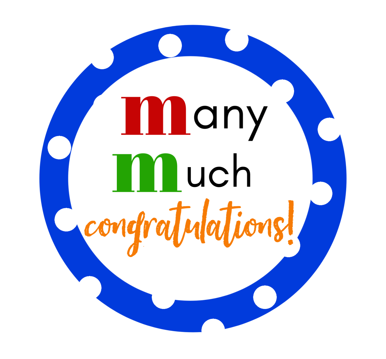M&M Congratulations Gift Tag