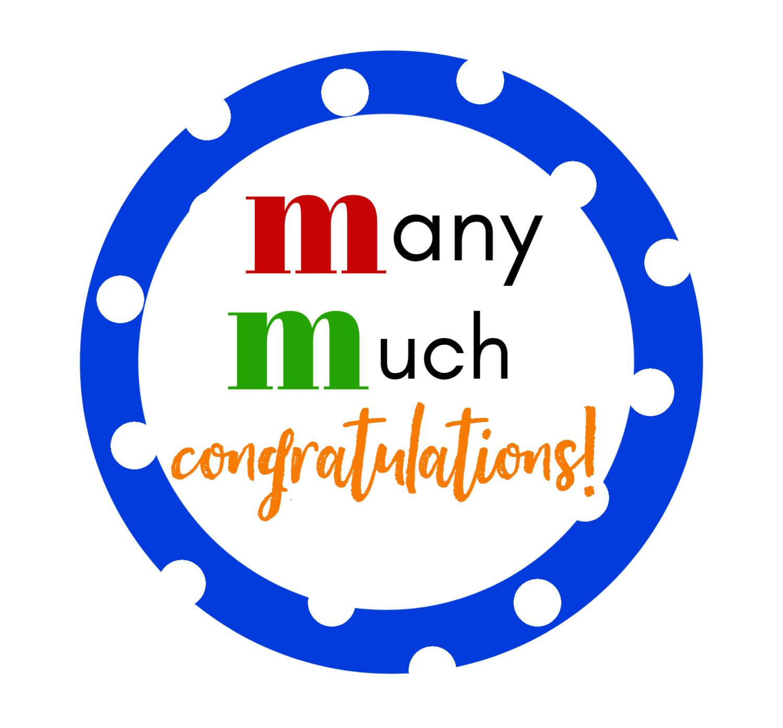M&M Congratulations Gift Tag
