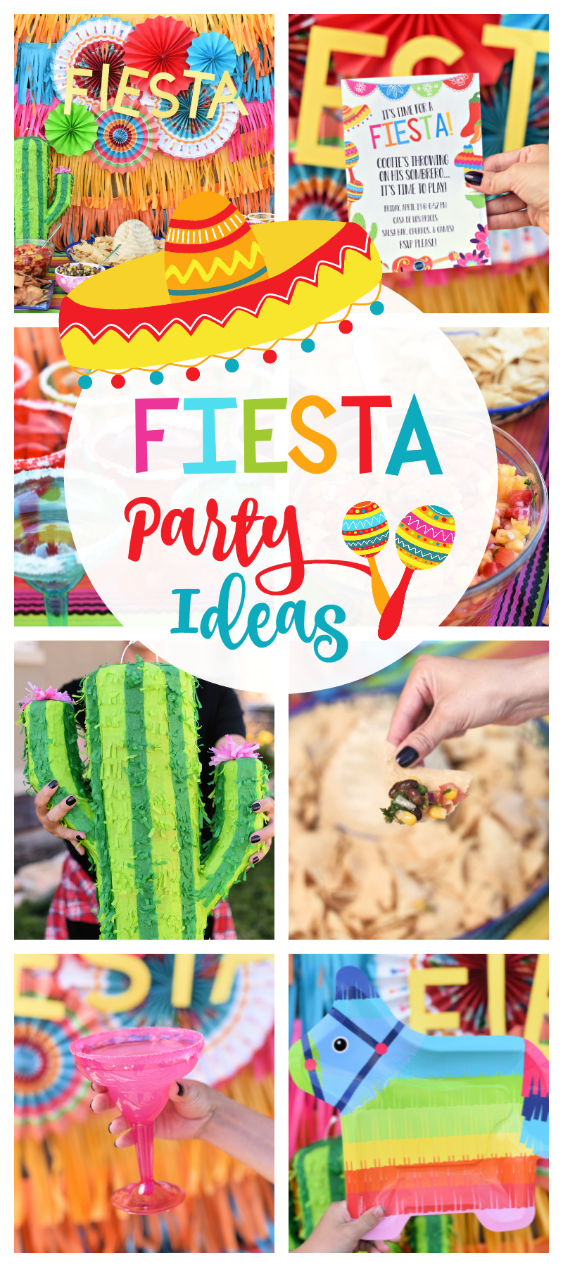 Mexican Themed Party Ideas-Looking for Fiesta party ideas? These fun fiesta invitations, food ideas and decorations will help you throw the best Fiesta ever! #fiesta #partyideas #party #mexicanparty #fiestaideas