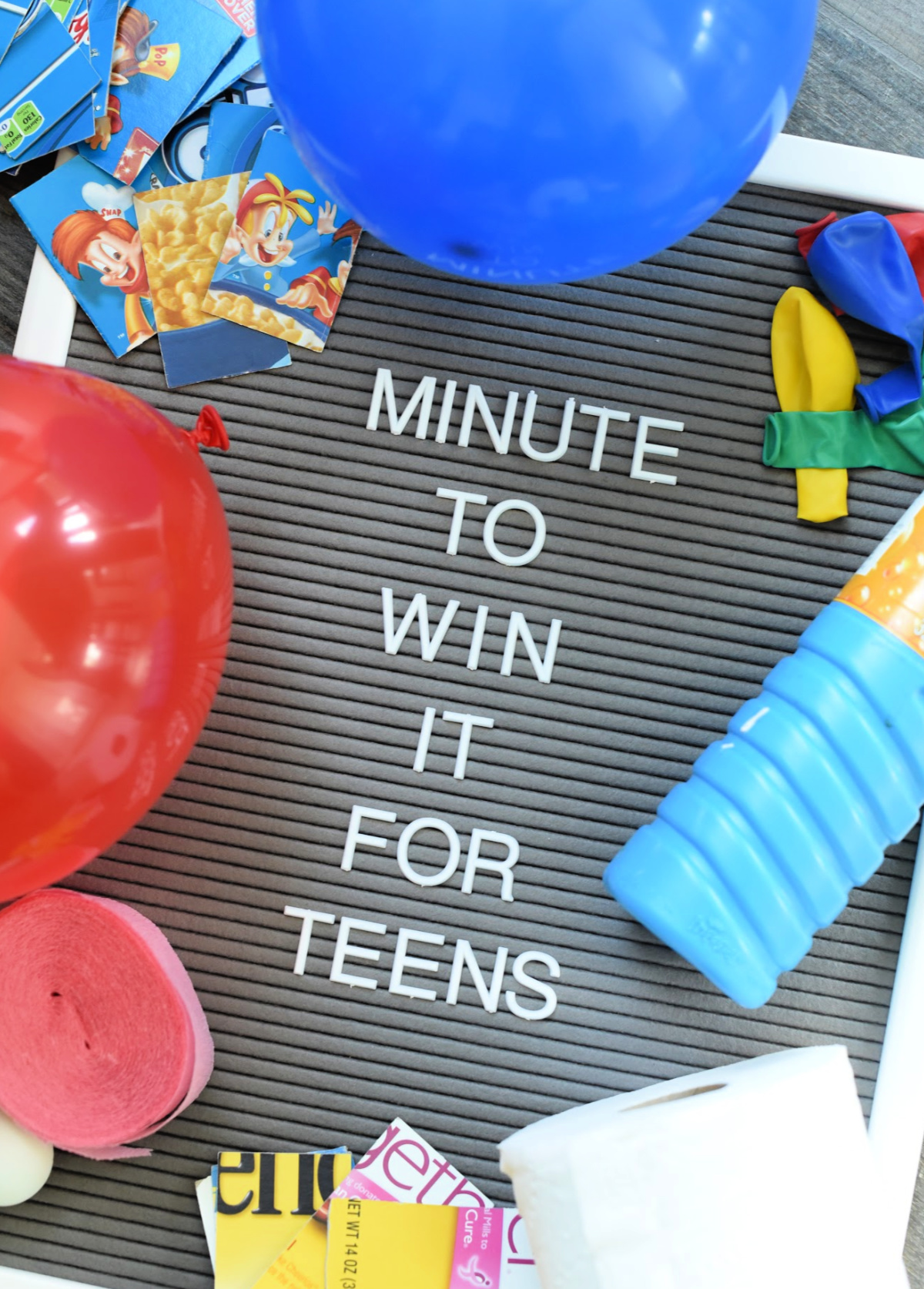 Minute to win it games for teens-These fun minute to win it games are great for teens, preteens, kids or even adults. They are easy to pull off and are creative and fun! #partygames #games #minutetowinit #birthdaygame #party
