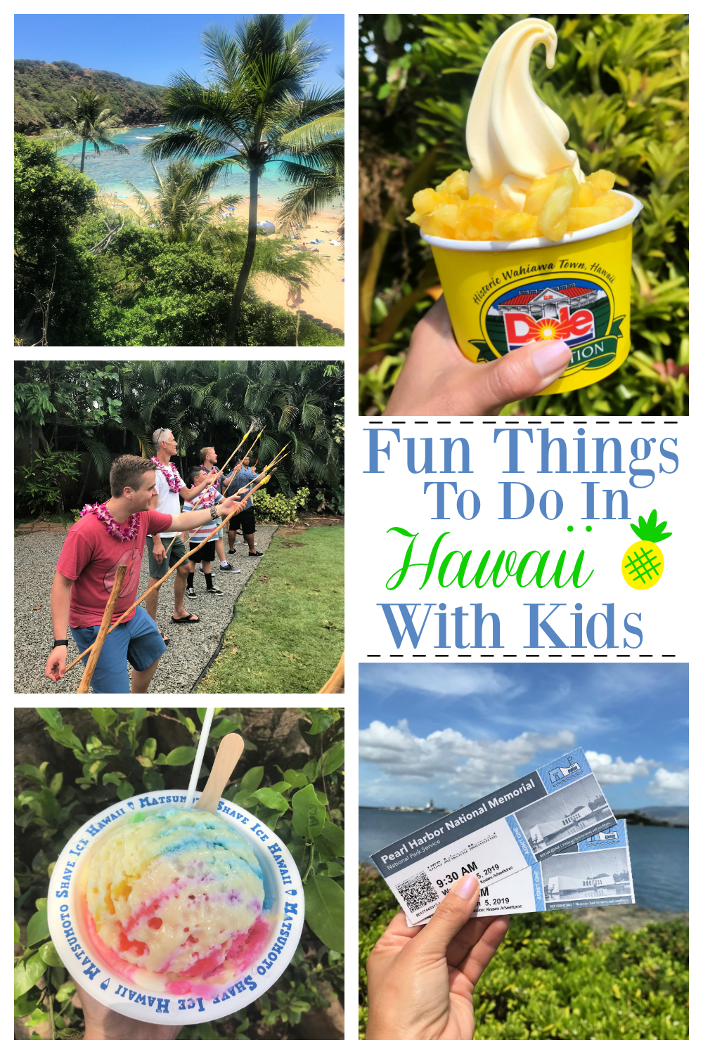 Fun Things to do in Oahu With Kids. We have lots of fun ideas to make your next Hawaiian vacations amazing! Lots of ideas for the whole family. #hawaii #Hawaiianvacation #vacations #travel