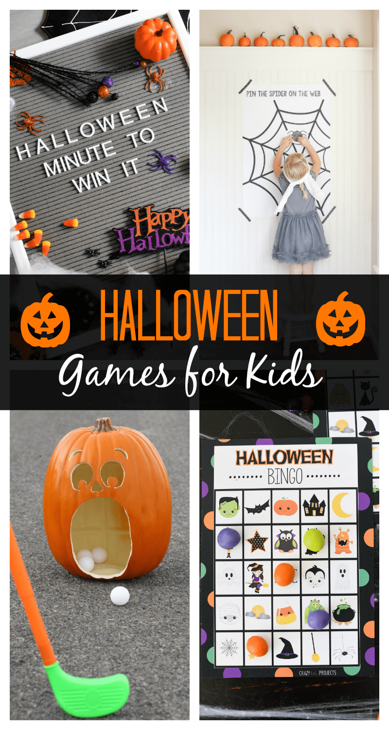 Halloween Games for Kids-Great for any kids' Halloween party with lots of game ideas. #Halloween #Halloweenparty #partygames #halloweengames