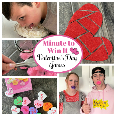Minute to Win it Valentine's Day Games