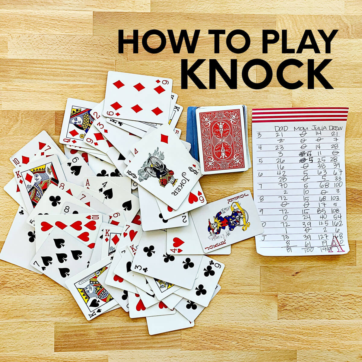 How to Play Knock-Fun card game