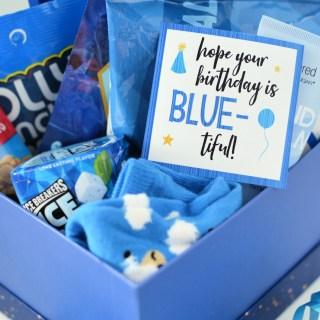 Blue-Themed Birthday Gift Idea