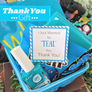 Teal Thank You Gift