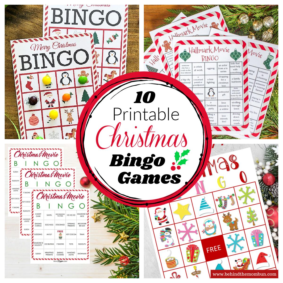 10 Free Printable Christmas Bingo Games Fun Squared