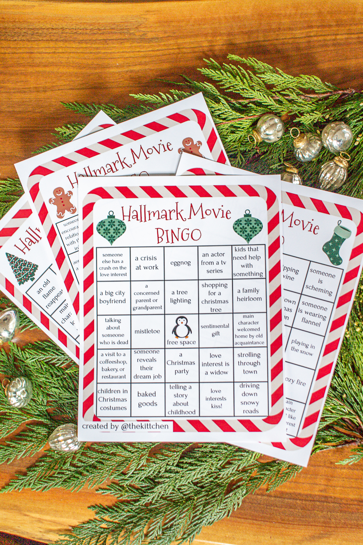 Hallmark Movie Bingo