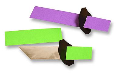 親子で折り紙刀作り