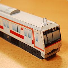 親子で喜ぶ電車のペーパークラフト