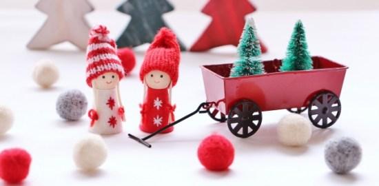 親子で楽しむクリスマスのペーパークラフト