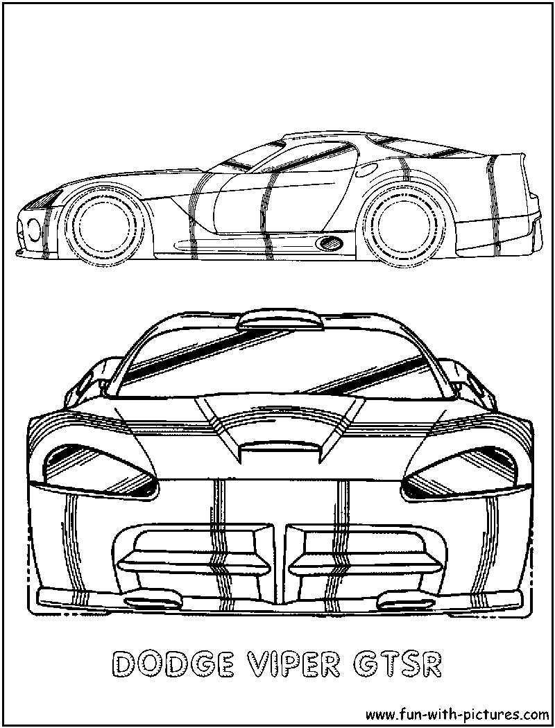 Dodge Viper Gtsr Coloring Page