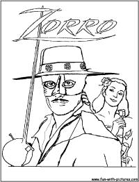 Coloriage Gratuit Zorro.Coloriage De Zorro A Imprimer Gratuit Lgant Dessins