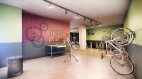 Bicicletário do edifício Glass - SP