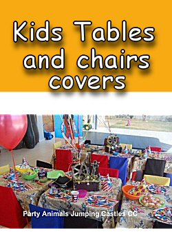where to buy chair covers in jhb for wedding reception kids table and party animals