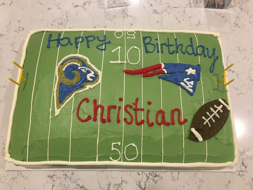 Superbowl Birthday Cake