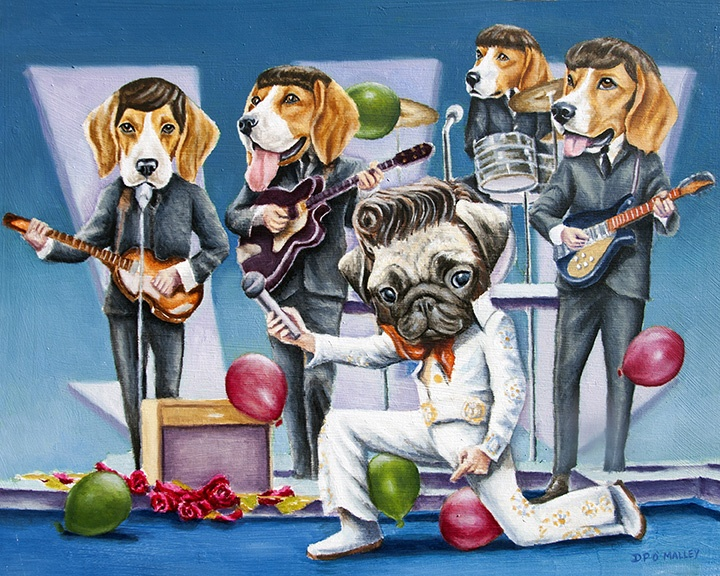 The Beagle -beatles play music with Elvis