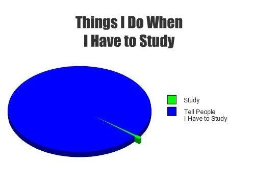 Things I do When I Have to Study
