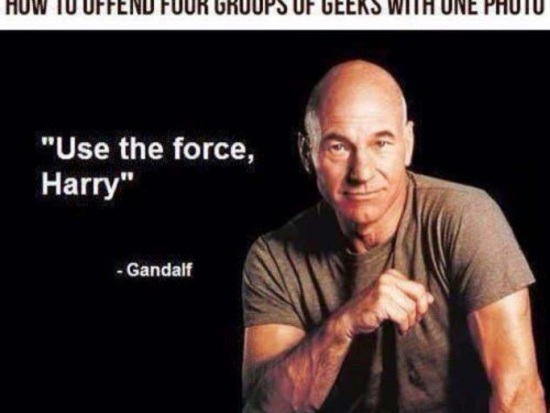 How to offend four different groups of geeks in one picture
