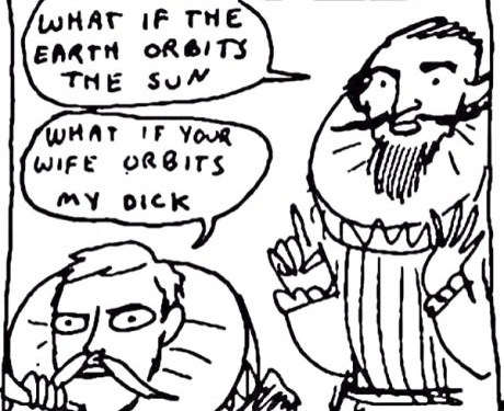 How I imagine everyone reacted to Galileo's observations.