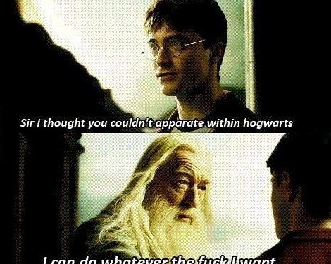 Because he's freakin' Dumbledore!